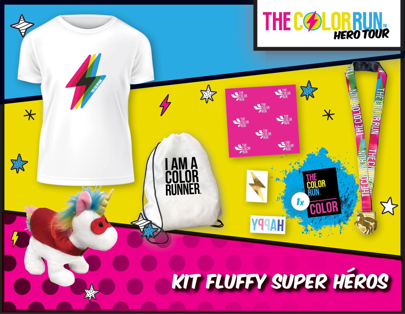 kid fluffy Super héros Participant Kit
